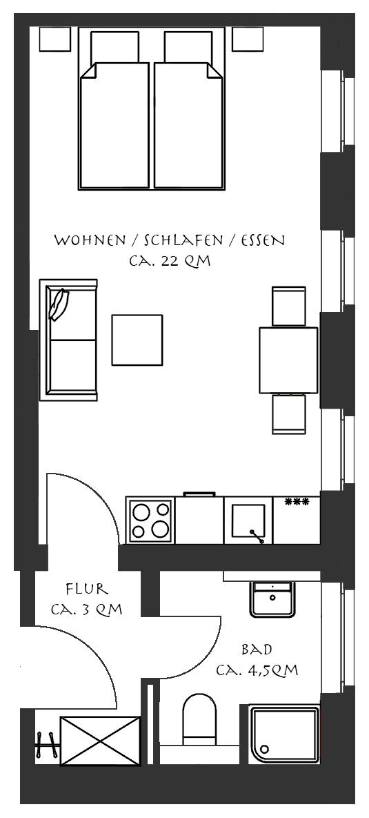 grundriss ferienwohnung 2